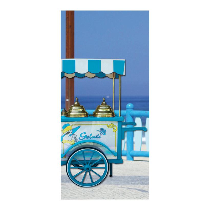"""# Motivdruck """"Eiswagen"""", 180x90cm Papier"""