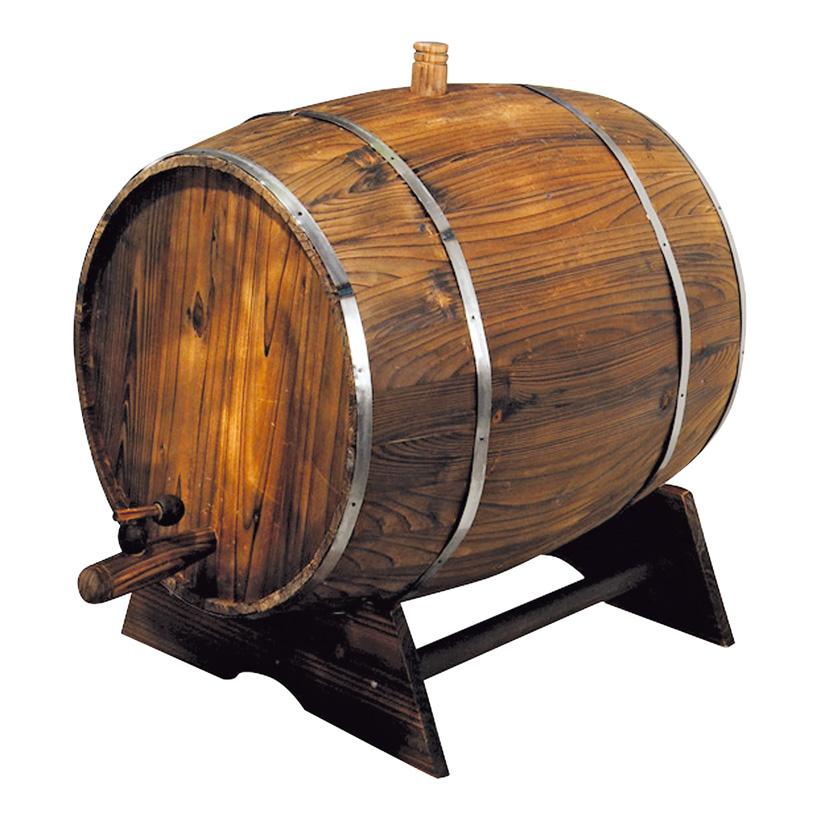 # Weinfass auf Ständer, 60x45cm, Holz
