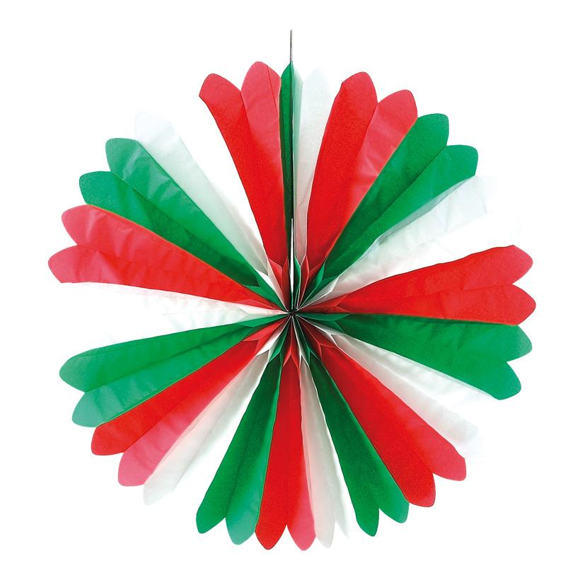 # Rosette Italien 60 cm Ø Papier, italienische Flagge