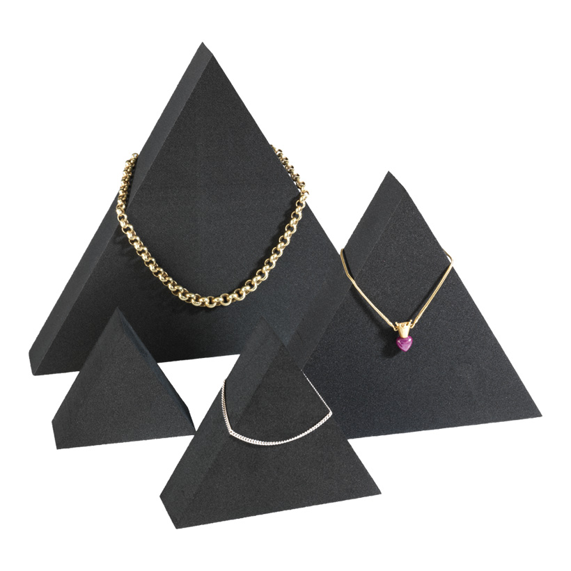 # Display-Triangel, 20x17x3cm, 15x13x3cm, 10x8,5x3cm, 7x6x3cm, 4-tlg., Zellkautschuk