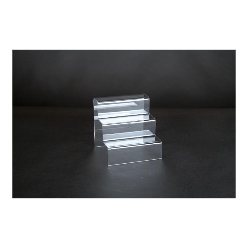 # Acryl-Dekotreppe, 15x15x15cm 3-fach, als Warenpräsenter