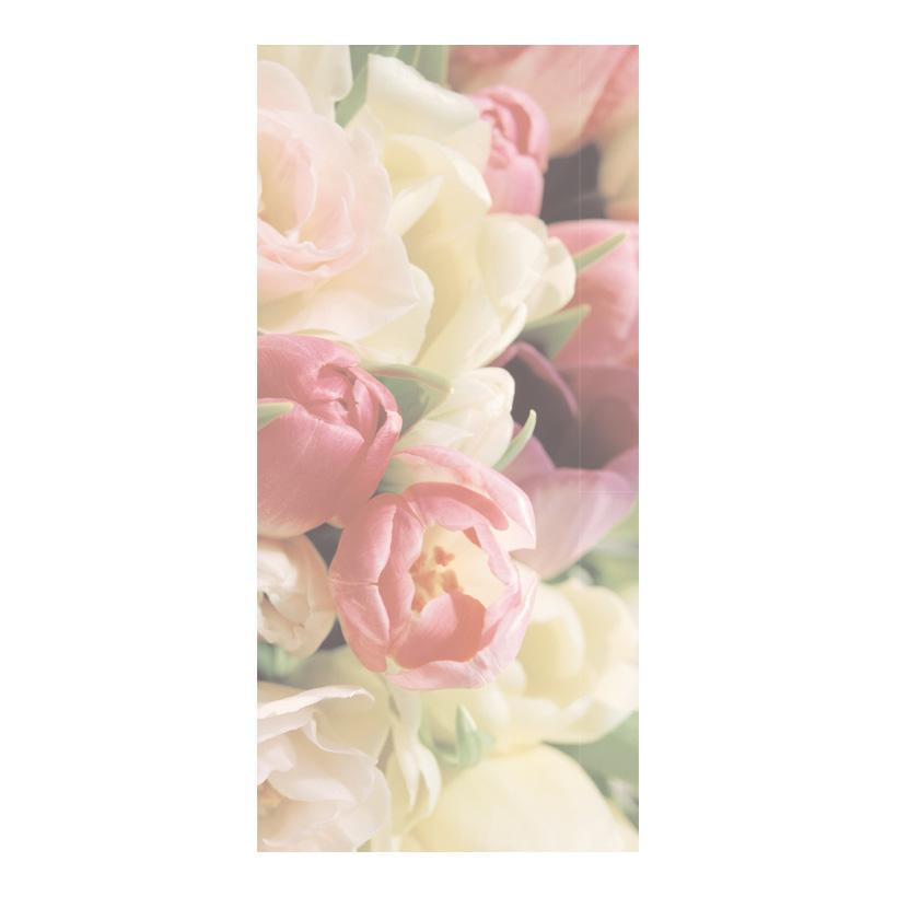 """# Motivdruck """"Soft Tulips"""", 180x90cm Stoff"""