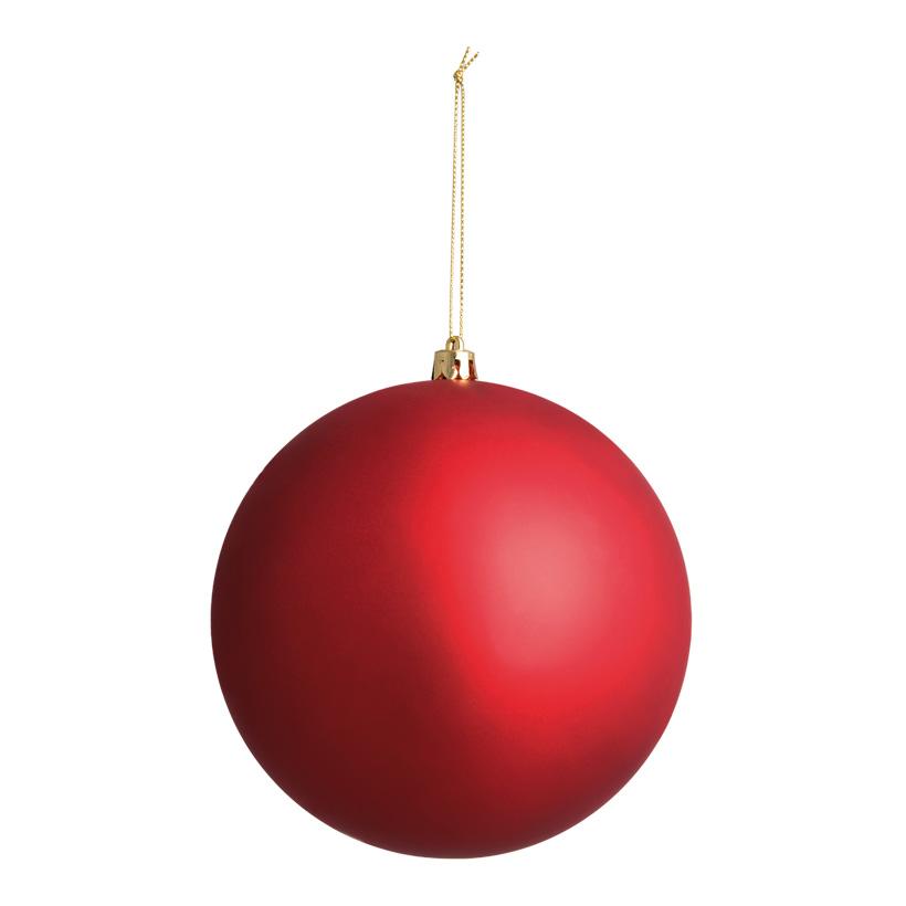 Weihnachtskugel, mattrot, Ø 14cm, nahtlos, matt
