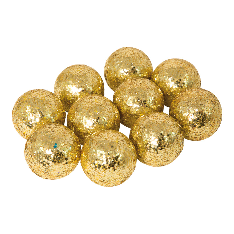 Glitterkugeln, Ø 3cm, 24Stck./Blister, Styropor