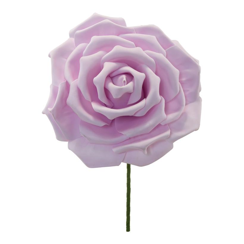 Rosenkopf, Ø 30cm aus Schaumstoff, mit Stiel