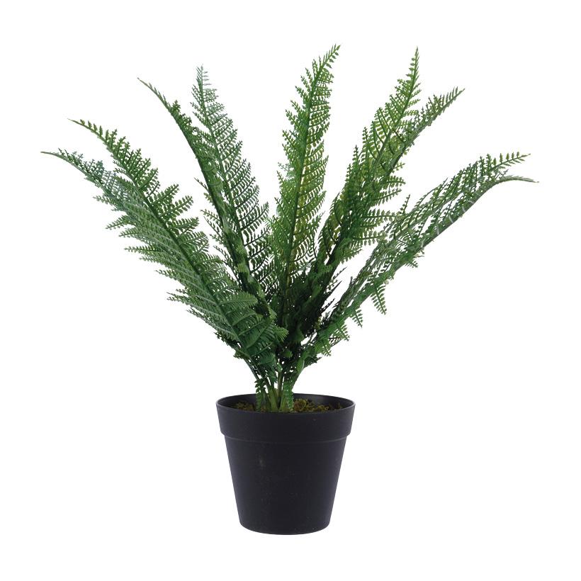 # Kunstfarn 55cm mit 1 Stamm und 12 Blättern, im Topf