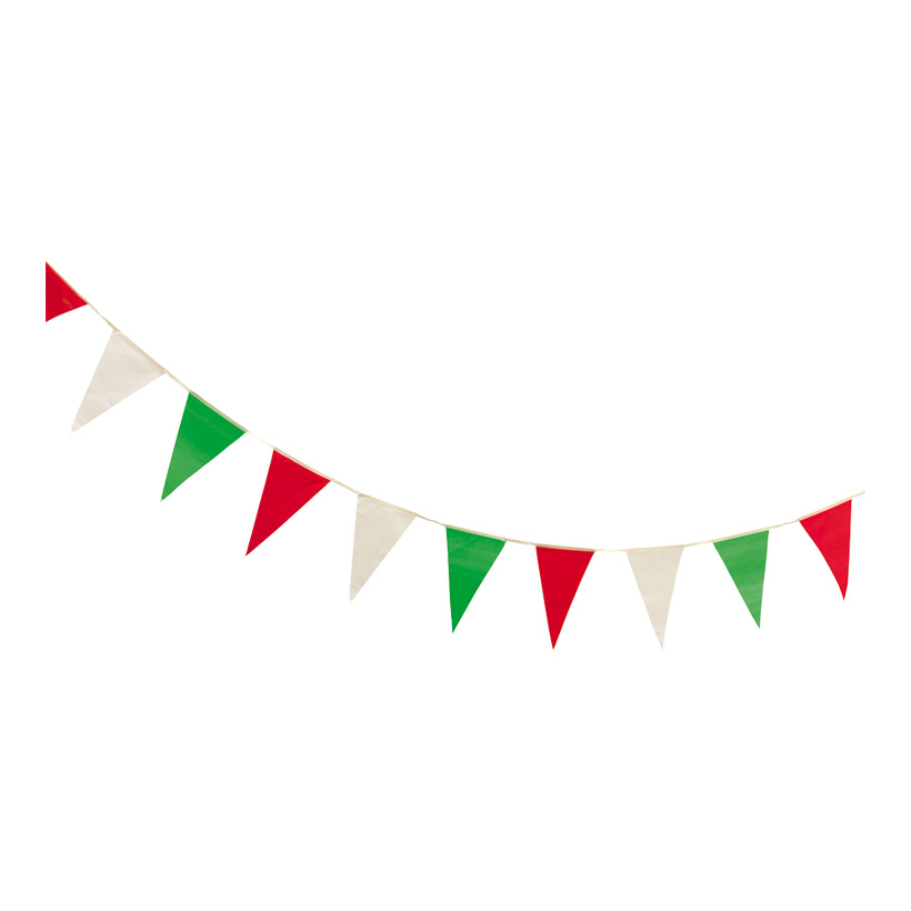 """# Wimpelkette """"Italien"""", 400cm, 16-fach, wetterfest, PVC"""