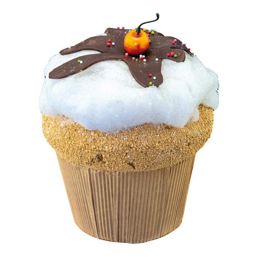 Kirsch-Cupcake, H: 22cm XL, aus Hartschaum