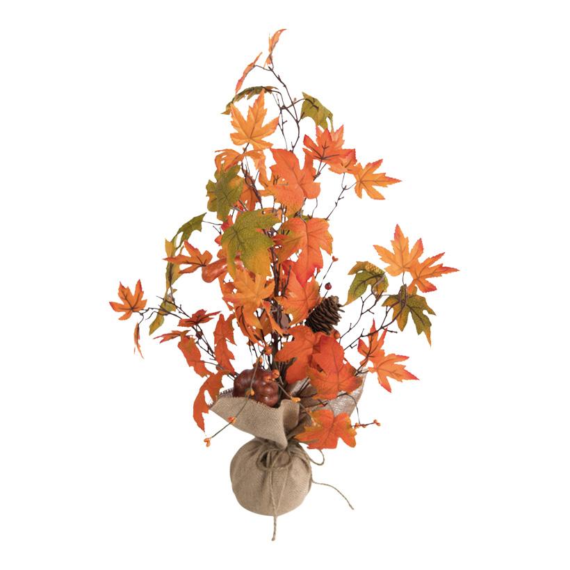 Herbstbäumchen, dekoriert, 60cm mit Beeren, Zapfen & Kürbissen