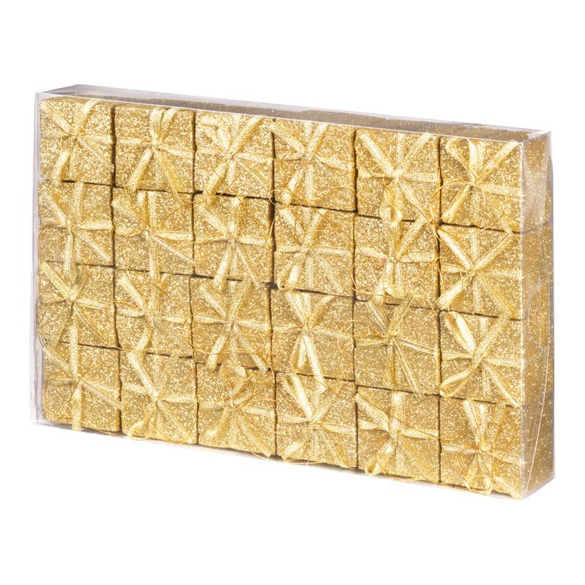 Geschenkpäckchen, Päckchen 4x4cm, 24Stck./Blister, Kunststoff