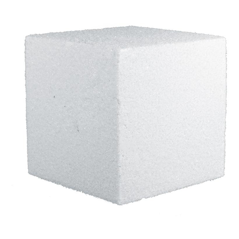 # Zuckerwürfel, 18x18x18cm, Styropor
