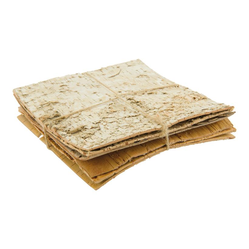 Baumrindenplatten, 20x20cm 6er Set, natürlich, gebündelt, Dicke 2-3mm