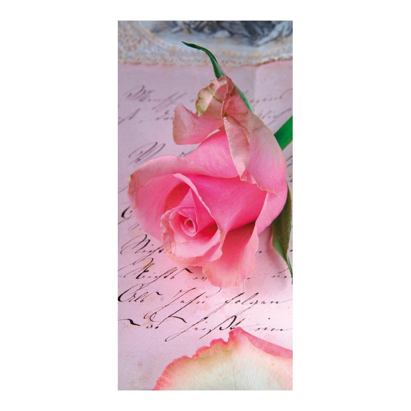 "# Motivdruck ""Rose of love"", 180x90cm Stoff"