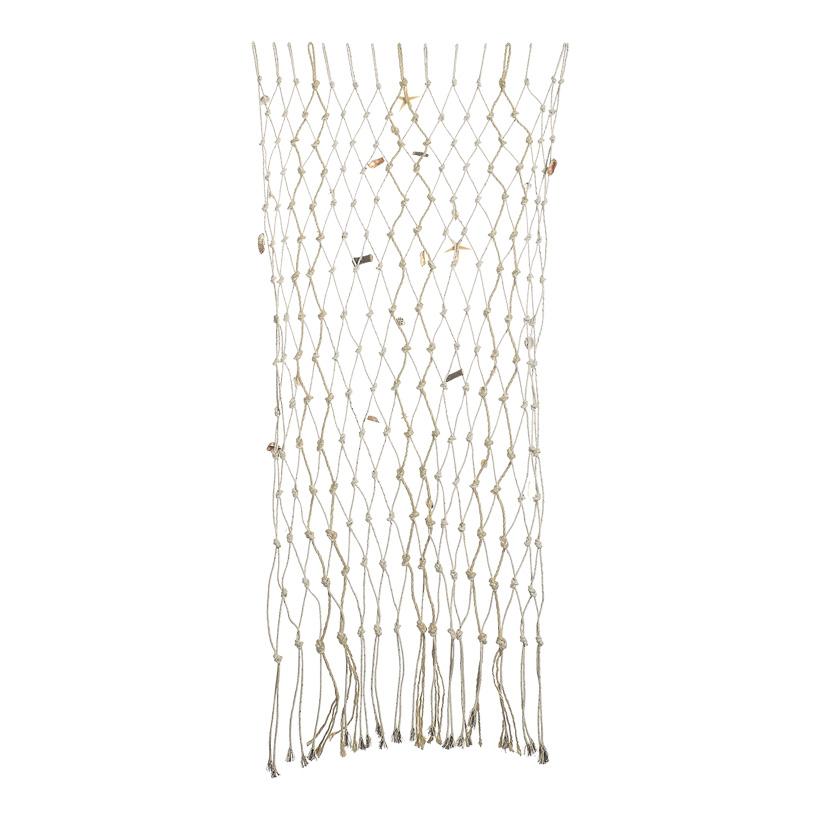 # Fischernetz 100x150 cm Naturmaterial, mit Muscheln