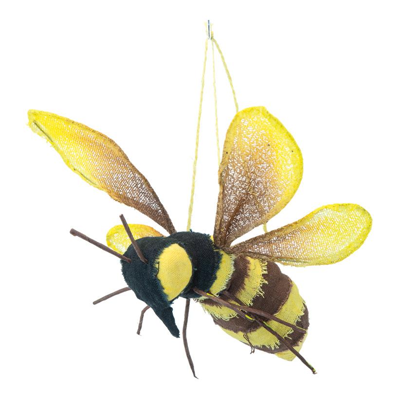 Biene, L: 21cm B: 15cm mit Hänger, aus Styropor & Kunstfaser