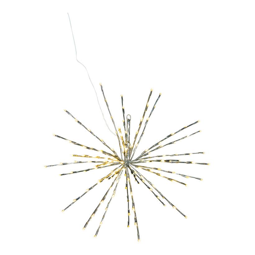 Stern, 60cm mit 150 warm weißen LEDs, für innen, aus Kunststoff, 2m Anschlusskabel