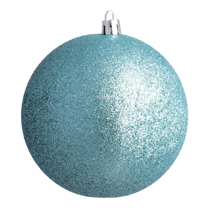 Weihnachtskugel, aqua glitter, Ø 14cm
