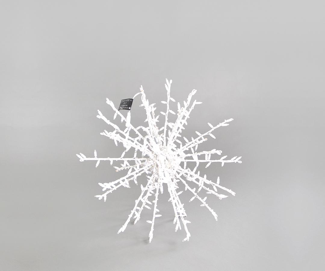 # LED Stern, 70cm Abstand zwischen den LEDs: 5cm, 374 LEDs, für Innen- & Außenbereich, IP44, faltbar, ohne Stecker, 36,8 W, Rahmen pulverbeschichtet