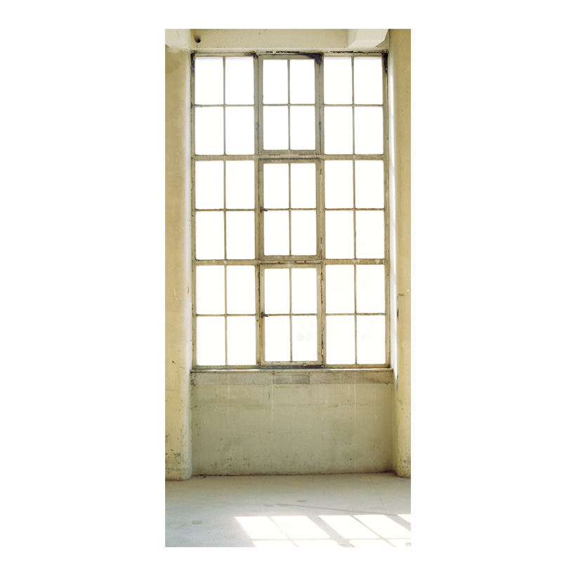 "# Motivdruck ""Atelierfenster"" 180x90cm Stoff"