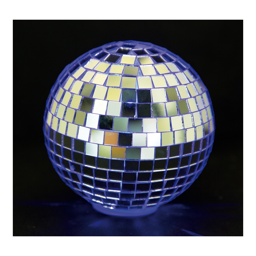 Spiegelkugel, Ø 6cm, 6Stck./Blister, LED-RGB Multicolor, Batteriebetrieb