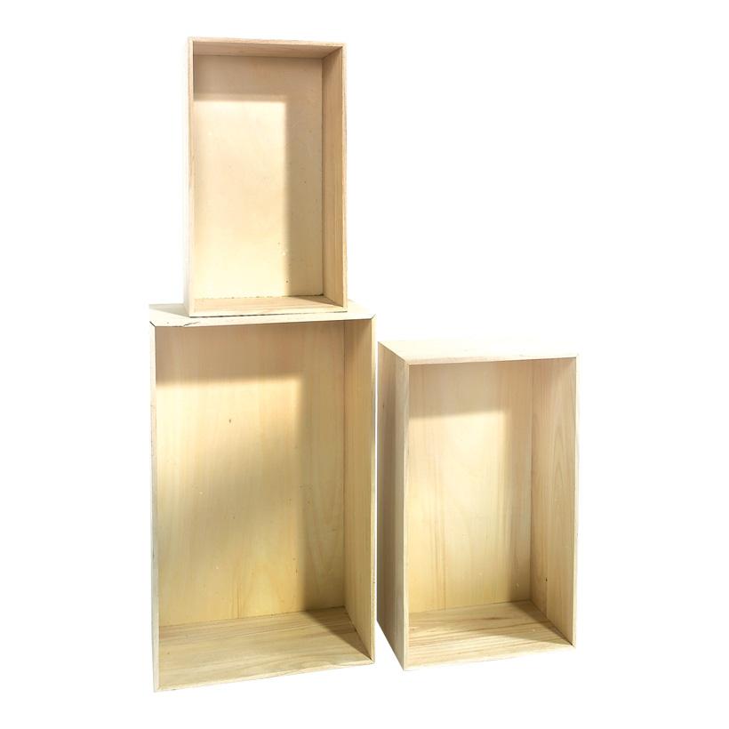 Holzpräsenter, 3-fach, rechteckig, max. 57x35x20 cm