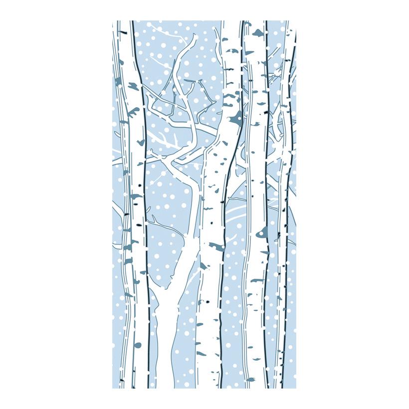 """# Motivdruck """"Birken im Schnee"""", 180x90cm Papier"""