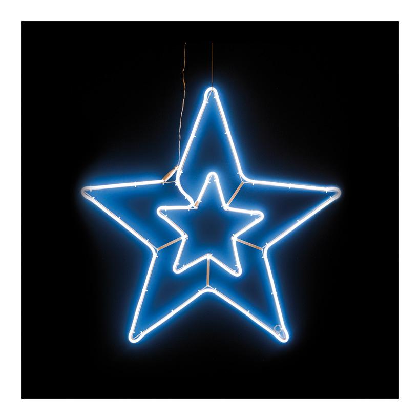"""Neon-Figur """"Doppelstern"""", Ø75cm 230V, IP44, 1,5m Zuleitung, LED-Lampe mit Stecker"""