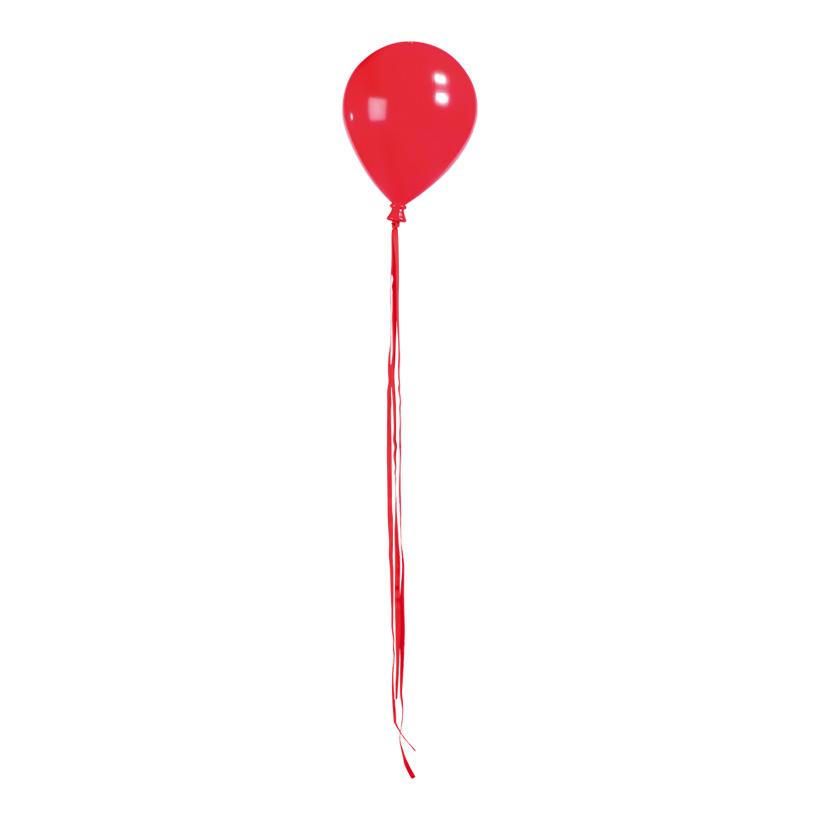 Ballon mit Hänger, Ø 15cm, 20cm, mit Bänder: 84cm, Kunststoff
