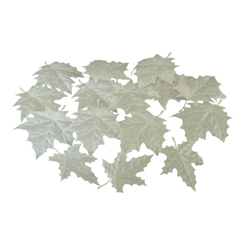 Ahornblätter, 20x16cm, 17x12cm 36 Stk./Btl., aus Polyester, 2 verschiedene Größen