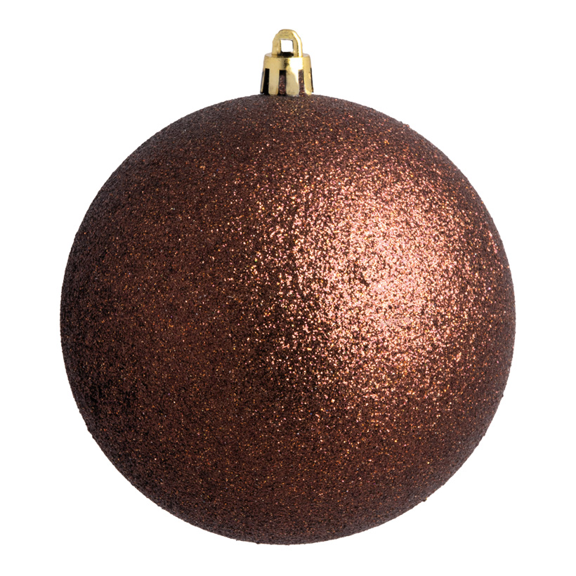 Weihnachtskugel, braun glitter, Ø 6cm 12 St./Blister