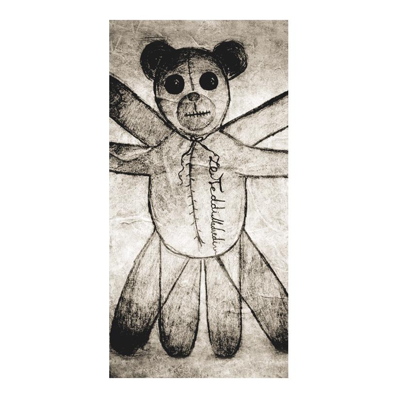 """# Motivdruck """"Teddy Leonardo"""", 180x90cm Stoff"""