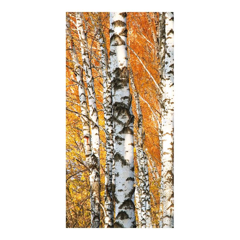 """# Motivdruck """"Birkenwald"""", 180x90cm Stoff"""