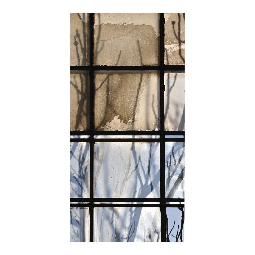 """# Motivdruck """"Fenster mit Ästen"""", 180x90cm Stoff"""