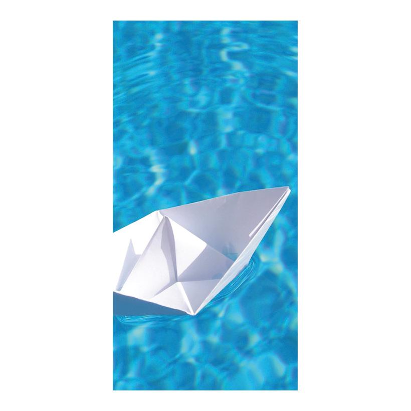 "# Motivdruck ""Papierschiffchen"", 180x90cm Papier"