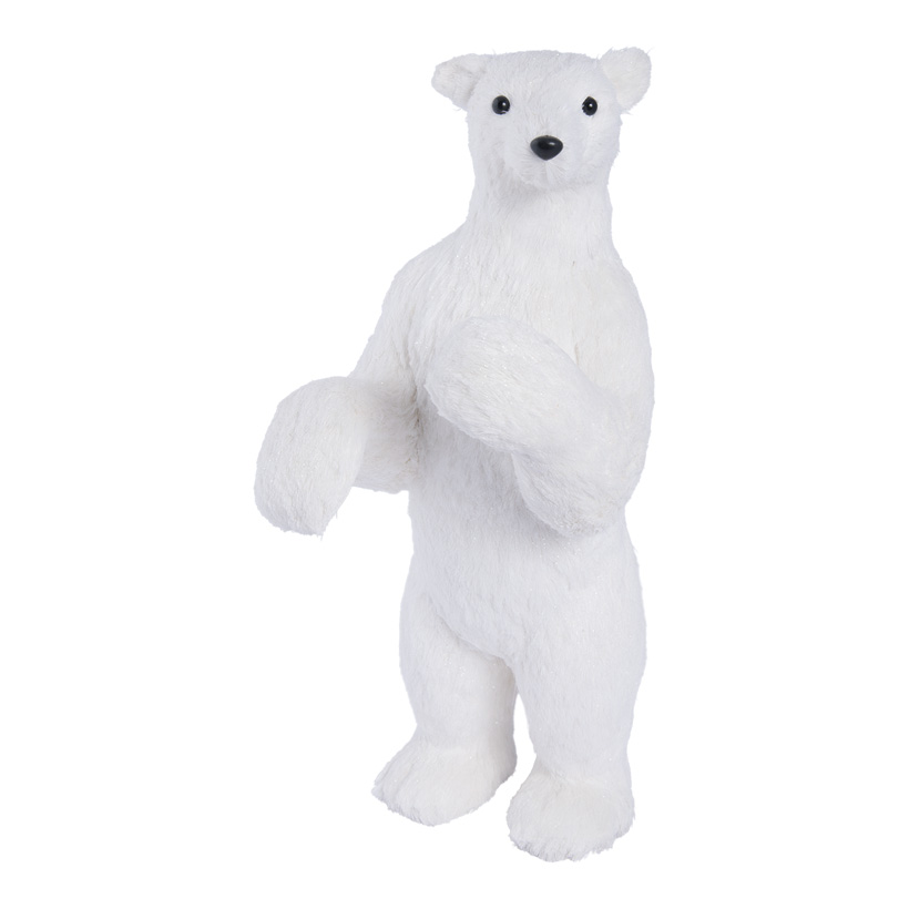 Eisbär, stehend, 57cm Styropor & Holzfaser