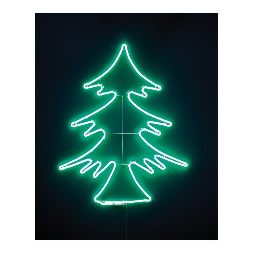 """Neon-Figur """"Tannenbaum"""", 66x82cm 230V, IP44, 1,5m Zuleitung, LED-Lampe mit Stecker"""