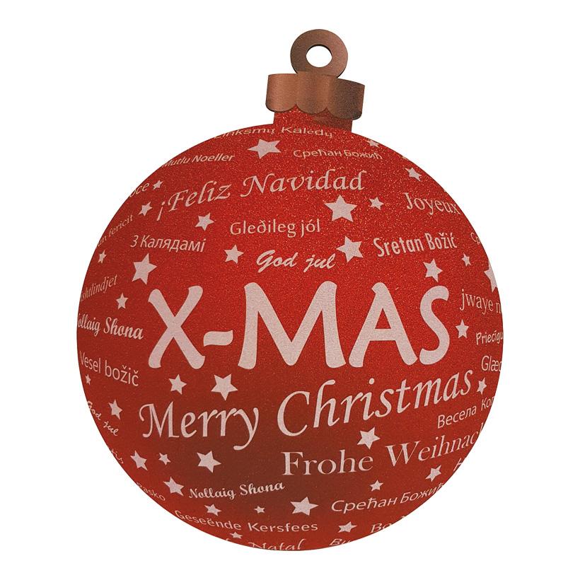Weihnachtskugeldisplay, Ø50cm beidseitig bedruckt, mit Hänger, aus Hartschaum