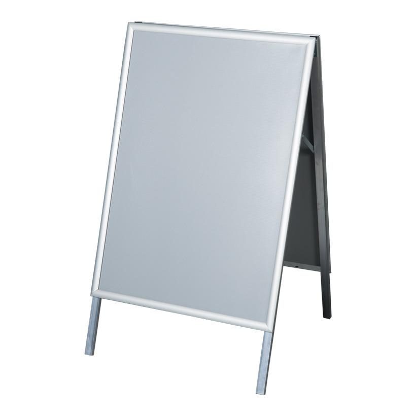 # A1 Kundenstopper, klappbar, 61x75x100cm doppelseitig, 25mm Profil auf Gehrung, für innen