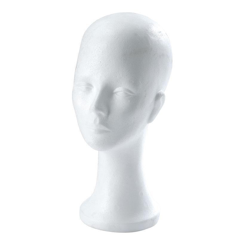 """# Kopf """"Dekor"""" Kopfumfang 53 cm, 33 cm hoch Styropor, mit Loch für Halteraufnahme"""