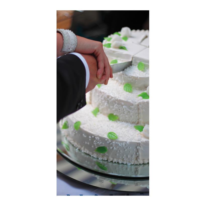 """# Motivdruck """"Hochzeitstorte"""", 180x90cm Papier"""