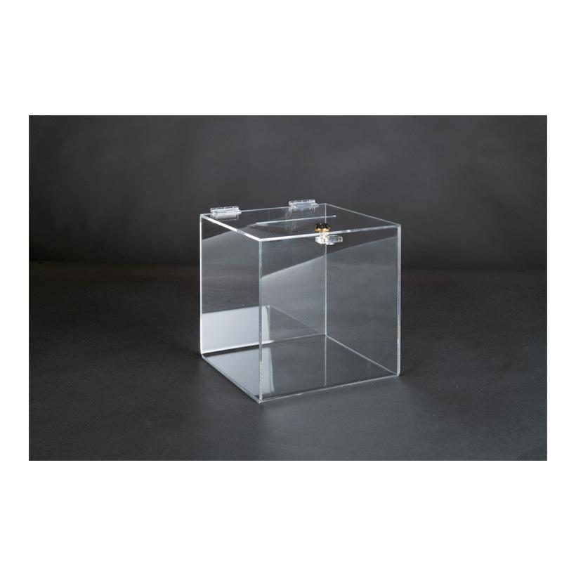 # Acryl-Losbox, 25x25x25cm mit abschließbarer Klappe