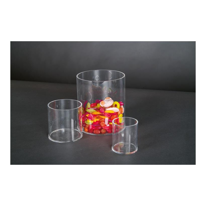 # Acryl-Zylinder, 10x10x10cm oben geöffnet