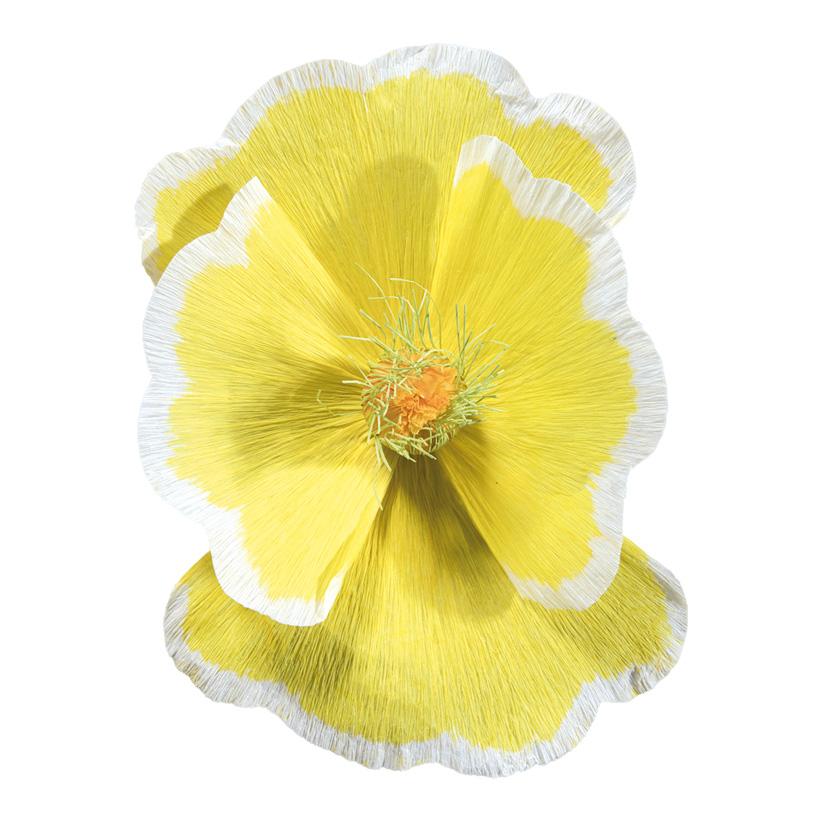Blüte, Ø45cm aus Papier, mit kurzem Stiel
