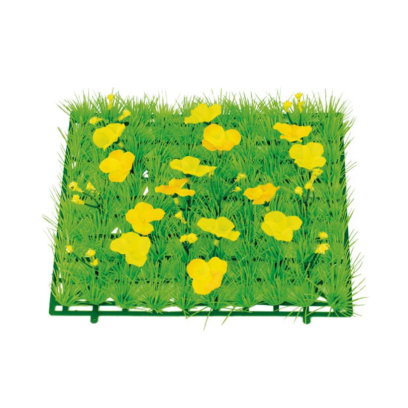 """Grasplatte """"Butterblumen"""", 25x25cm, Kunststoff, Kunstseide"""