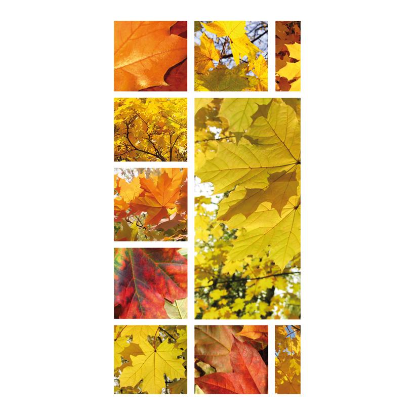 """# Motivdruck """"Herbstblättercollage"""", 180x90cm Stoff"""