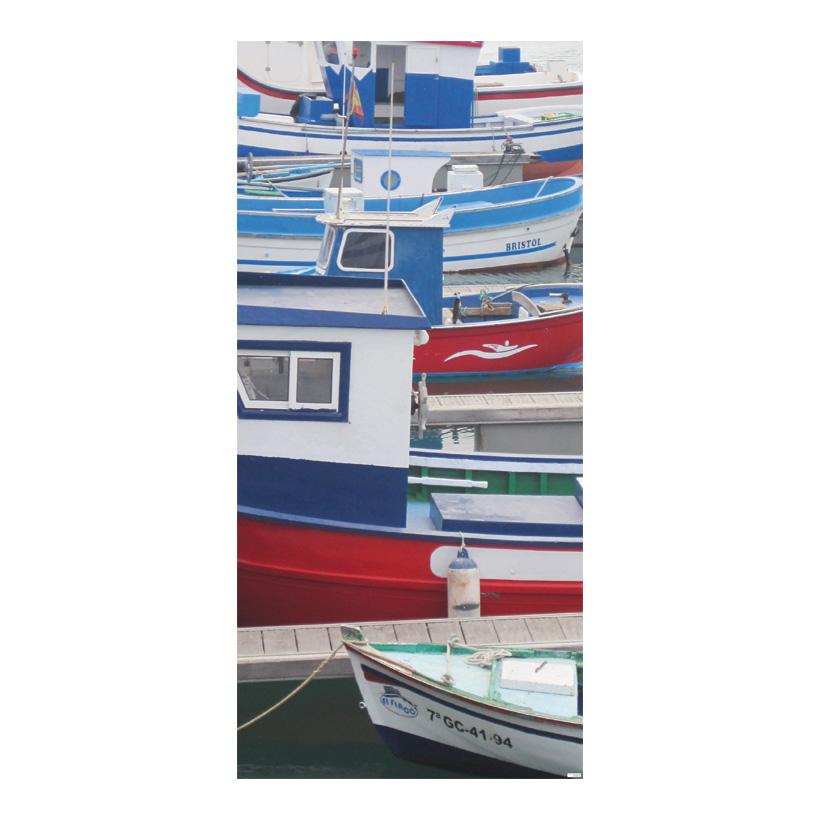 "# Motivdruck ""Fischerboote"" 180x90cm Papier"