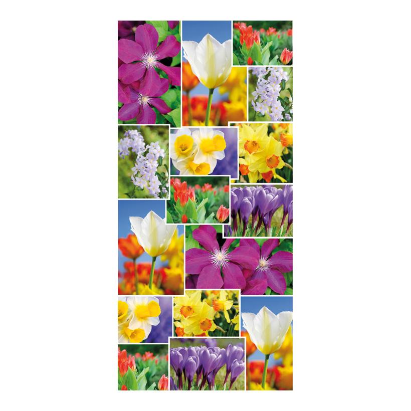 "# Motivdruck ""Flowercollage"", 180x90cm Stoff"