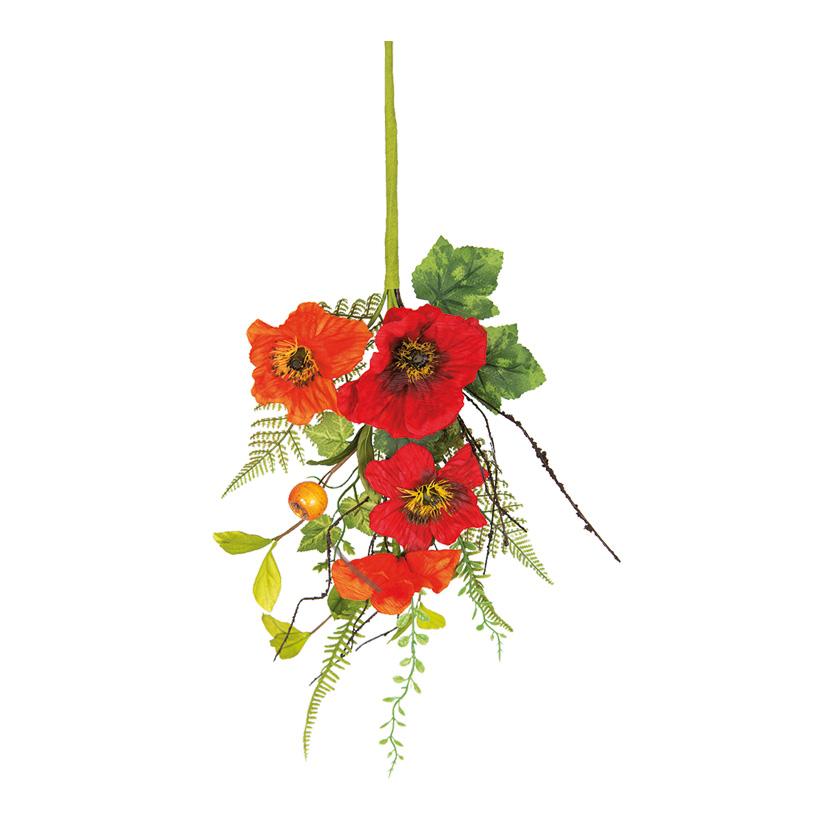 Blumenzweig, 70x20cm mit Blumen und Gräsern