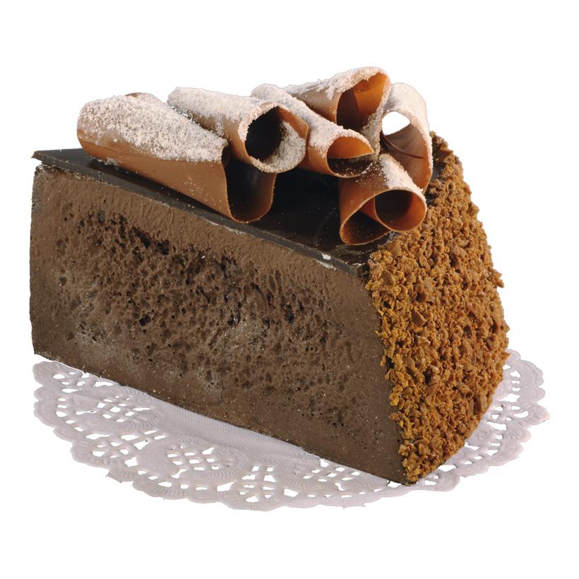 # Kuchenstück, 7x10cm, Schokoladentorte, Schaumstoff