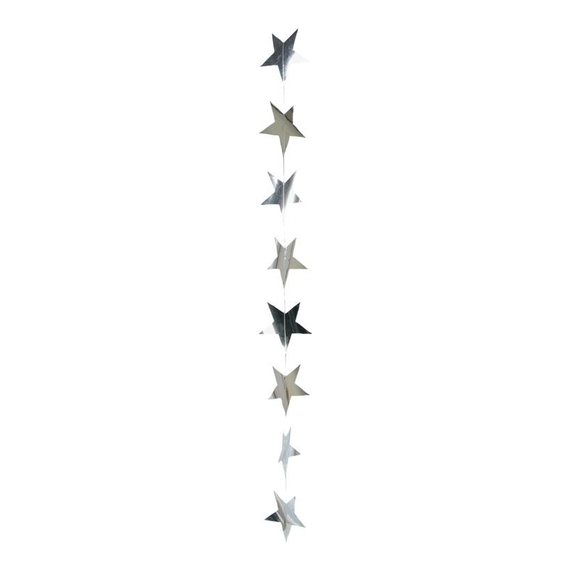 Foliensternkette, ca. Ø 12cm, 200cm, 10-fach, Metallfolie